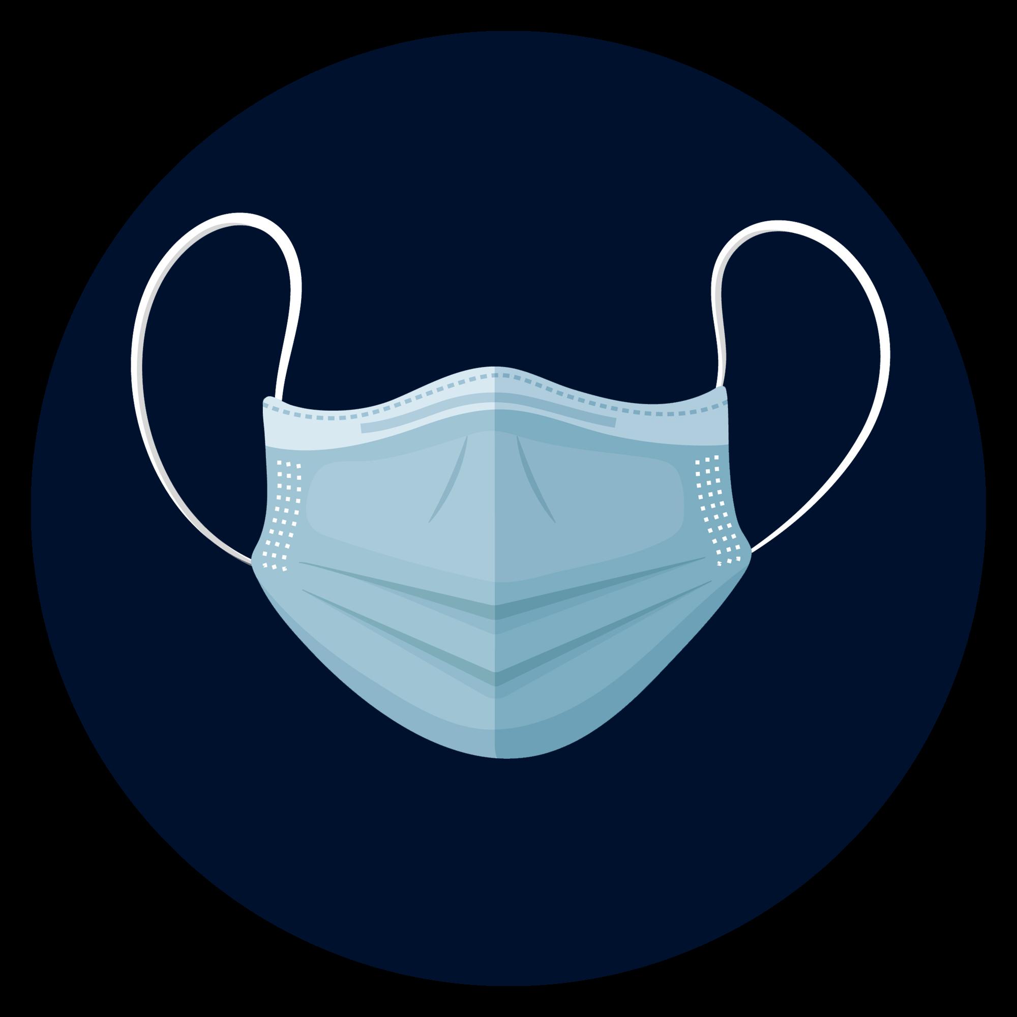 Logo masque de protection contre le covid-19