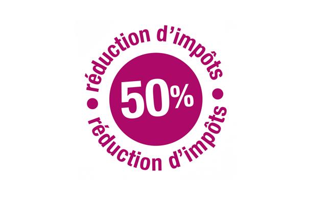 Logo réduction d'impots 50%